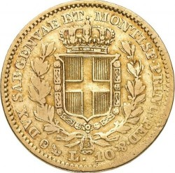 Moneta > 10lire, 1833-1844 - Sardegna  - reverse