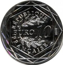 Монета > 10евро, 2018 - Франция  (Аббатство Мон-Сен-Мишель) - obverse