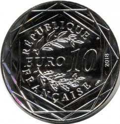 Coin > 10euro, 2018 - France  (French Guiana) - obverse