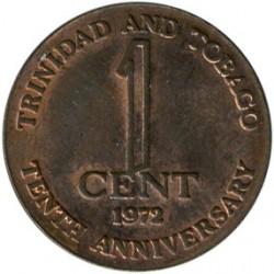 Moneta > 1centesimo, 1972 - Trinidad e Tobago  (10° anniversario dell'indipendenza) - reverse