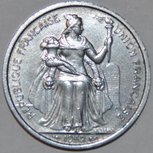 New Caledonia 5 Francs 1952 UNC KM#4