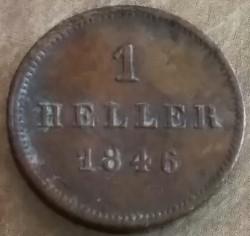 Munt > 1heller, 1839-1856 - Bavaria  - obverse