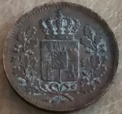Munt > 1heller, 1839-1856 - Bavaria  - reverse