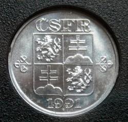 Monēta > 1hellers, 1991-1992 - Čehoslovākija  - obverse