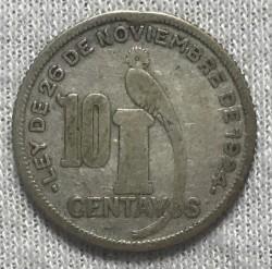 Moneda > 10centavos, 1934 - Guatemala  - reverse