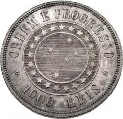 Moneda > 1000réis, 1889 - Brasil  - reverse