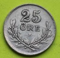 Moneda > 25öre, 1939 - Suècia  - obverse