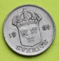 Moneda > 25öre, 1939 - Suècia  - reverse
