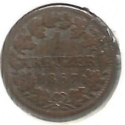 Кованица > 1крајцер, 1865-1871 - Bavaria  - reverse