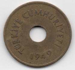 Moneta > 2½kurušo, 1948-1951 - Turkija  - reverse