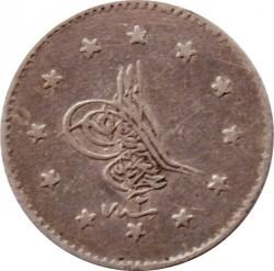 Monedă > 1kuruş, 1861 - Imperiul Otoman  - obverse