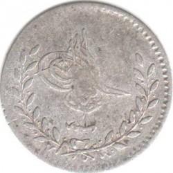 Munt > 20para, 1861 - Ottomaanse Rijk  (Silver /gray color/) - obverse