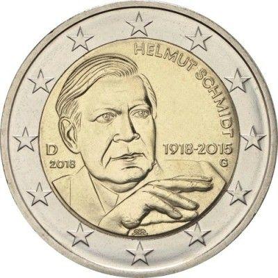 2 Euro 2018 Helmut Schmidt Deutschland Münzen Wert Ucoinnet