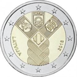 Moneta > 2euro, 2018 - Łotwa  (100 rocznica - Państwa Bałtyckie) - obverse