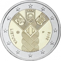 Coin > 2 euro, 2018 - Lithuania  (100th Anniversary - Baltic States) - obverse
