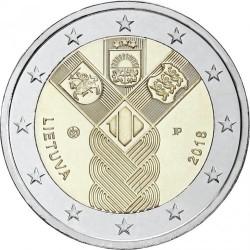 Moneta > 2euro, 2018 - Lituania  (100° anniversario - Stati baltici) - obverse