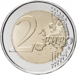 Coin > 2 euro, 2018 - Lithuania  (100th Anniversary - Baltic States) - reverse