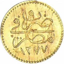 Moneda > 5qirsh, 1861 - Egipto  (Gold /yellow color/) - reverse