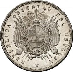 Νόμισμα > 1Πέσο, 1877 - Ουρουγουάη  - obverse
