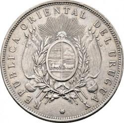 Monedă > 1peso, 1878-1895 - Uruguay  - obverse