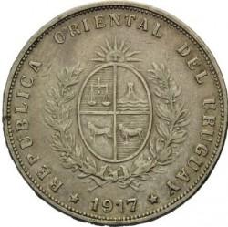 Moeda > 50centésimos, 1916-1917 - Uruguai  - obverse