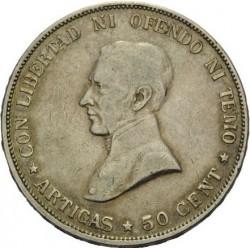 Moeda > 50centésimos, 1916-1917 - Uruguai  - reverse
