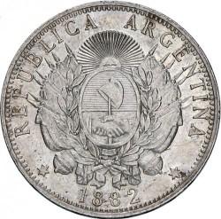 Pièce > 1peso, 1881-1883 - Argentine  - obverse