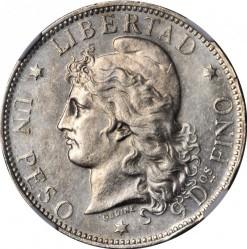 Pièce > 1peso, 1881-1883 - Argentine  - reverse