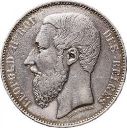 Minca > 5francs, 1865-1876 - Belgicko  - obverse