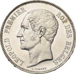 Monedă > 5franci, 1849-1865 - Belgia  - obverse