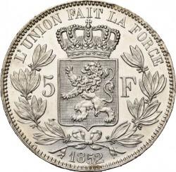 Monedă > 5franci, 1849-1865 - Belgia  - reverse