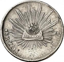 Moneda > 8reales, 1824-1897 - México  - reverse