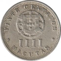 Coin > 20centavos, 1927-1928 - Angola  - reverse