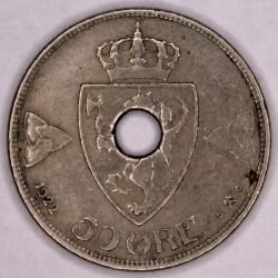 Moneta > 50erių, 1920-1923 - Norvegija  - reverse
