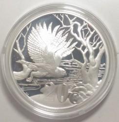 Pièce > 20cents, 2012 - Afrique du Sud  (Le hibou à la pêche) - reverse