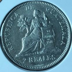 Moneda > 2reales, 1894-1899 - Guatemala  - obverse