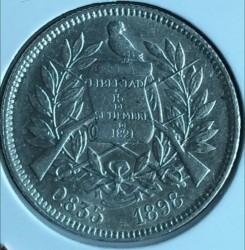 Moneda > 2reales, 1894-1899 - Guatemala  - reverse