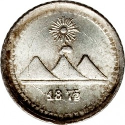 Moneda > ¼real, 1872-1878 - Guatemala  - obverse