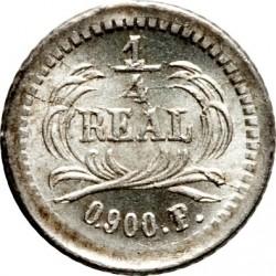 Moeda > ¼real, 1872-1878 - Guatemala  - reverse