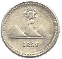 Moneda > ¼real, 1889-1891 - Guatemala  - obverse