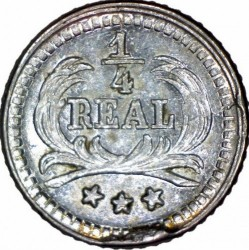 Moeda > ¼real, 1893-1894 - Guatemala  - reverse