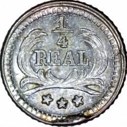 Монета > ¼реала, 1893-1894 - Гватемала  - reverse