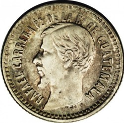 Moneda > ½real, 1859-1861 - Guatemala  - obverse