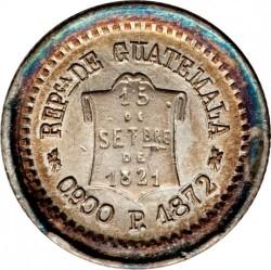 Moneda > ½real, 1872-1873 - Guatemala  - obverse
