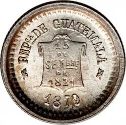 Moneda > ½real, 1878-1893 - Guatemala  - obverse