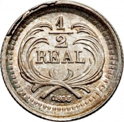 Moneda > ½real, 1878-1893 - Guatemala  - reverse