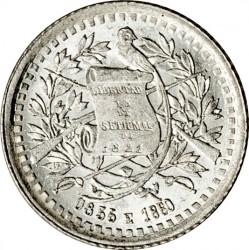 Moeda > ½real, 1880-1890 - Guatemala  - obverse