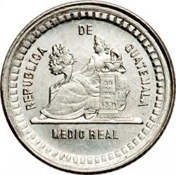 Moeda > ½real, 1880-1890 - Guatemala  - reverse