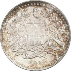 Moneda > ½real, 1893 - Guatemala  (Figura asseguda en el revers. Escut gran) - obverse