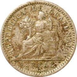 Moneda > ½real, 1899 - Guatemala  - reverse